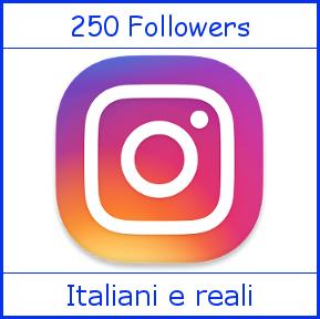 Compra Follower Instagram, Like Facebook, Views Youtube e Follower TikTok su 250 Followers Instagram Italiani